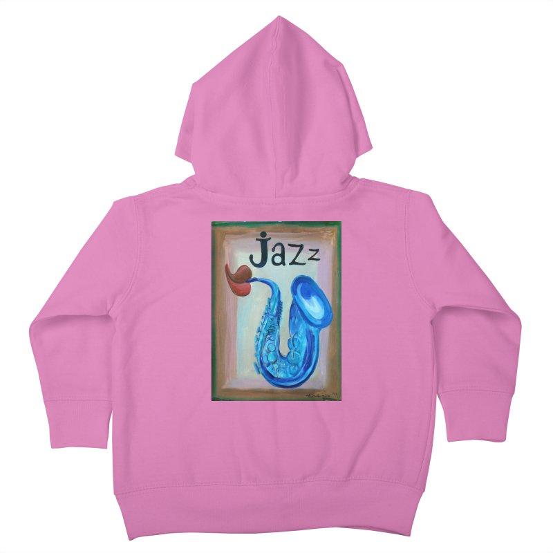 jazz 4 Kids Toddler Zip-Up Hoody by diegomanuel's Artist Shop