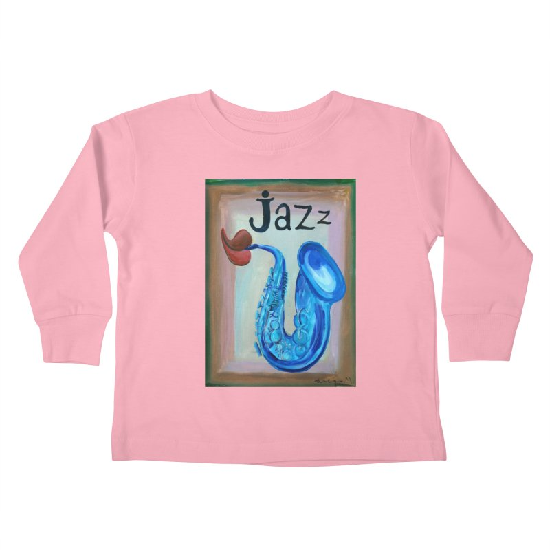 jazz 4 Kids Toddler Longsleeve T-Shirt by diegomanuel's Artist Shop