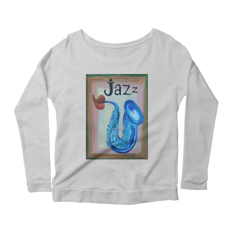 jazz 4 Women's Longsleeve Scoopneck  by diegomanuel's Artist Shop
