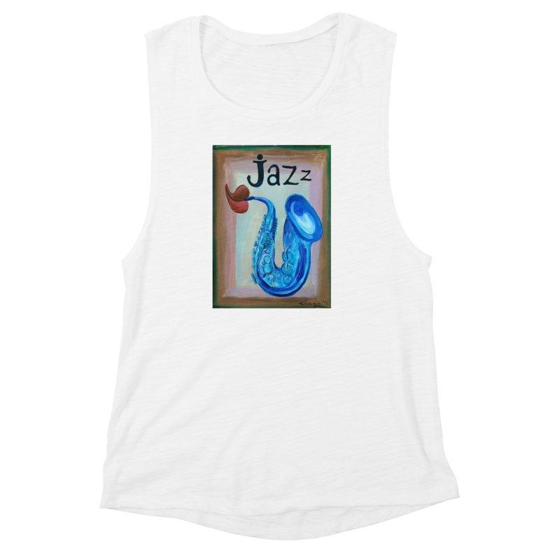 jazz 4 Women's Muscle Tank by diegomanuel's Artist Shop
