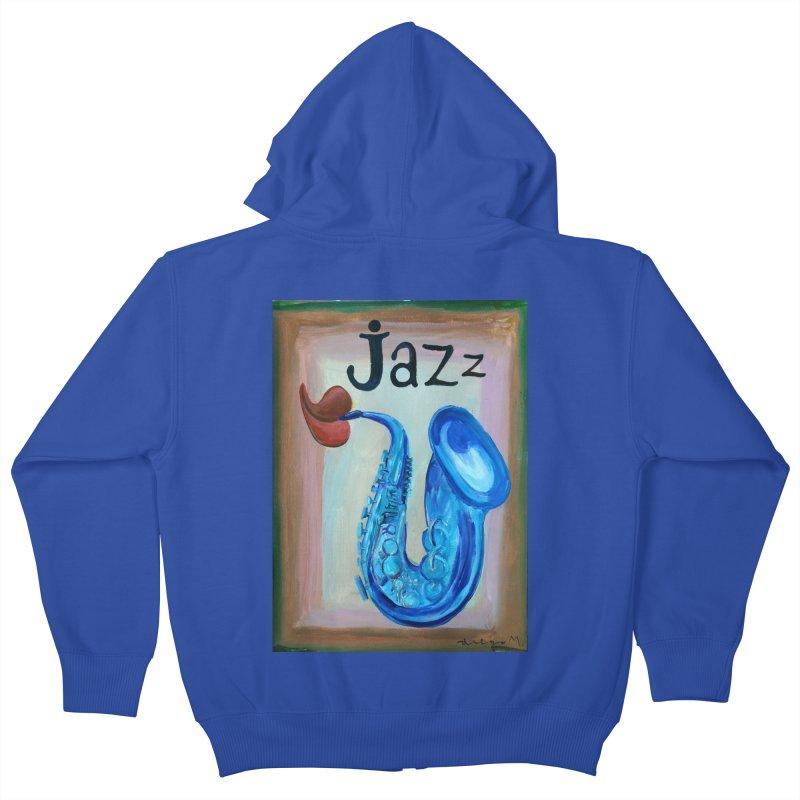 jazz 4 Kids Zip-Up Hoody by diegomanuel's Artist Shop