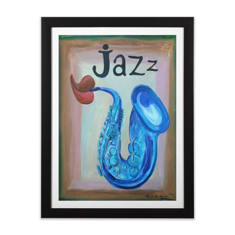 jazz 4 Home Framed Fine Art Print by diegomanuel's Artist Shop