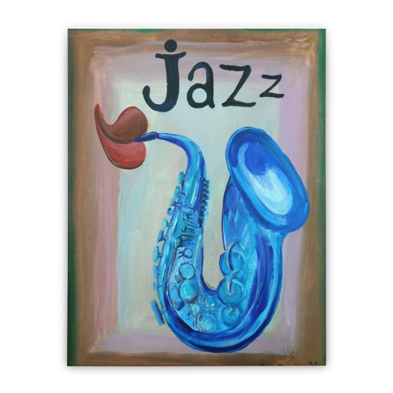jazz 4 Home Stretched Canvas by diegomanuel's Artist Shop