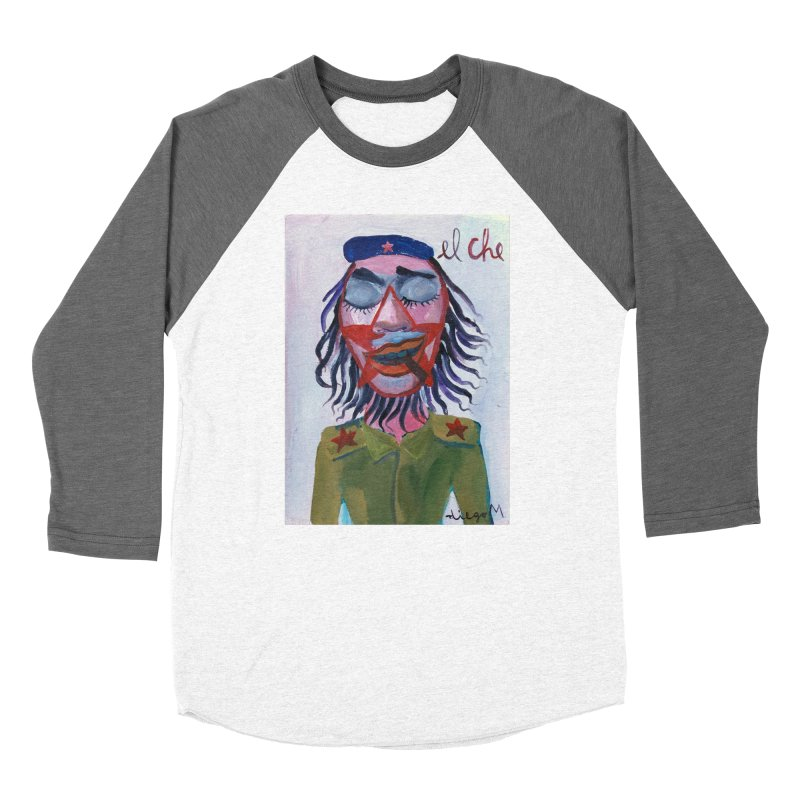 Che Guevara 3 Women's Baseball Triblend T-Shirt by diegomanuel's Artist Shop