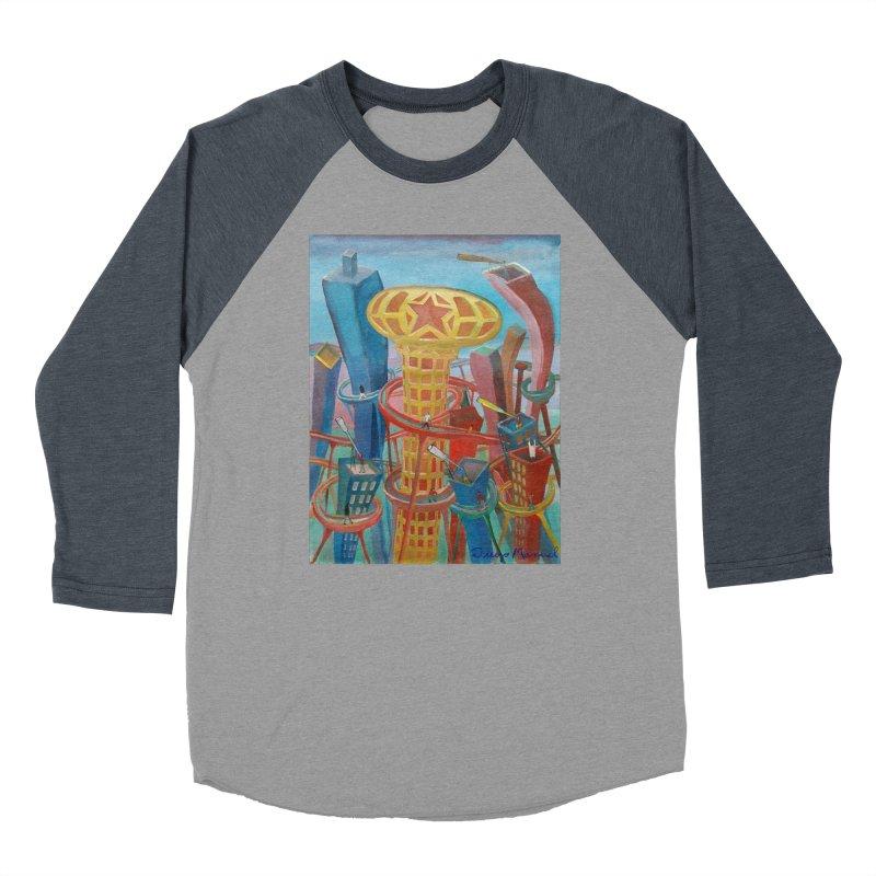 Ciudad 2 Men's Baseball Triblend Longsleeve T-Shirt by diegomanuel's Artist Shop