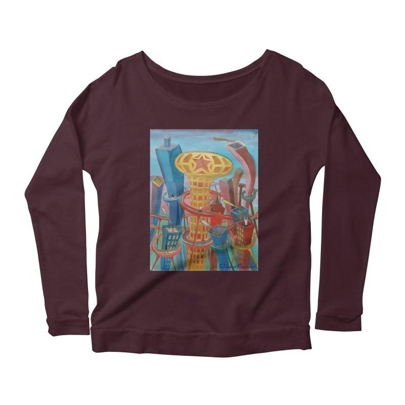 Ciudad 2 Women's Scoop Neck Longsleeve T-Shirt by diegomanuel's Artist Shop