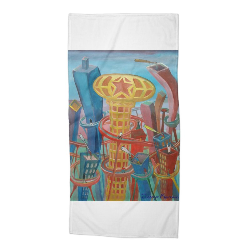Ciudad 2 Accessories Beach Towel by diegomanuel's Artist Shop