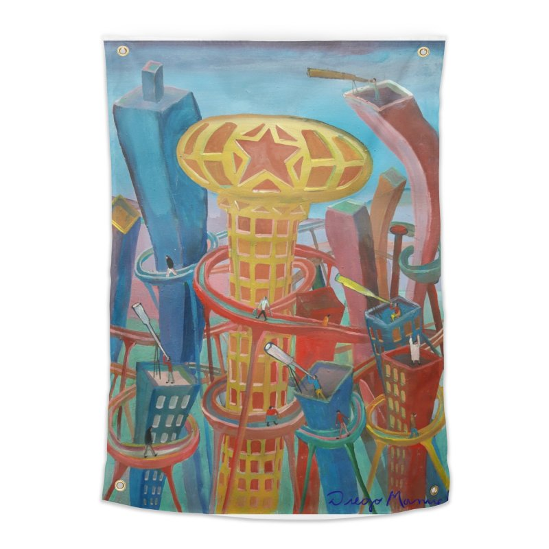 Ciudad 2 Home Tapestry by Diego Manuel Rodriguez Artist Shop