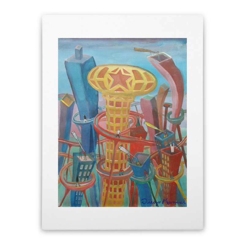 Ciudad 2 Home Stretched Canvas by Diego Manuel Rodriguez Artist Shop