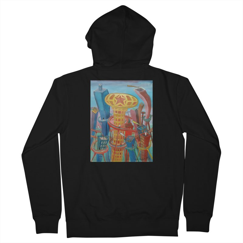 Ciudad 2 Men's Zip-Up Hoody by diegomanuel's Artist Shop