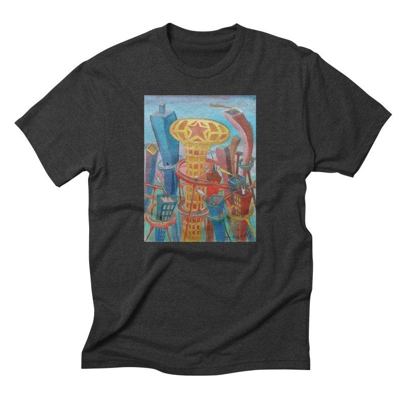 Ciudad 2 Men's Triblend T-shirt by diegomanuel's Artist Shop