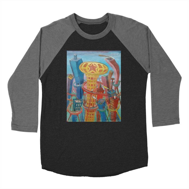 Ciudad 2 Men's Baseball Triblend T-Shirt by diegomanuel's Artist Shop