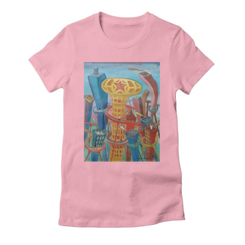 Ciudad 2 Women's Fitted T-Shirt by diegomanuel's Artist Shop