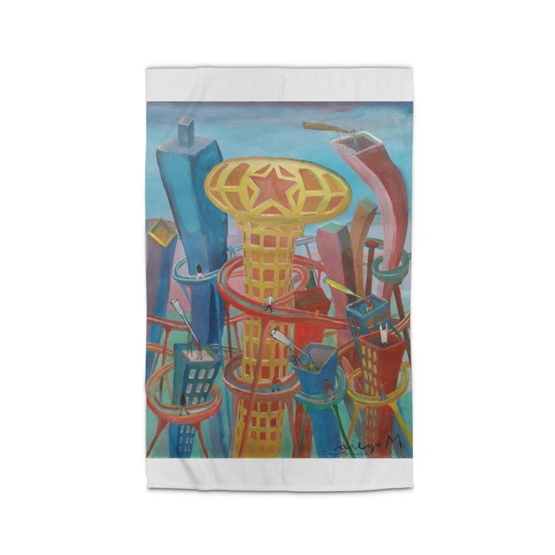 Ciudad 2 Home Rug by diegomanuel's Artist Shop