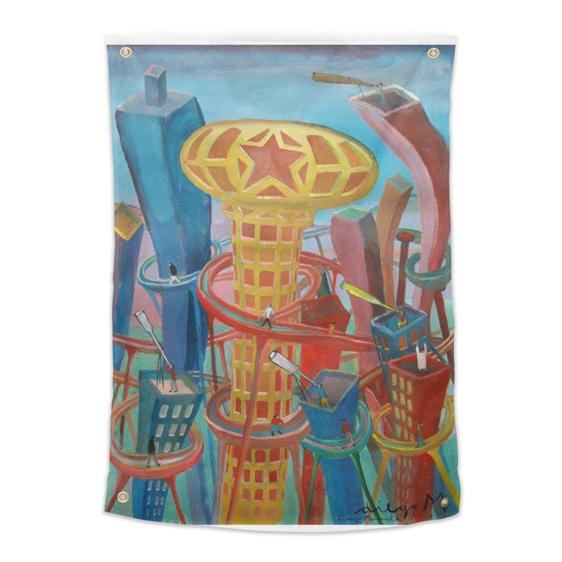 Ciudad 2 Home Tapestry by diegomanuel's Artist Shop