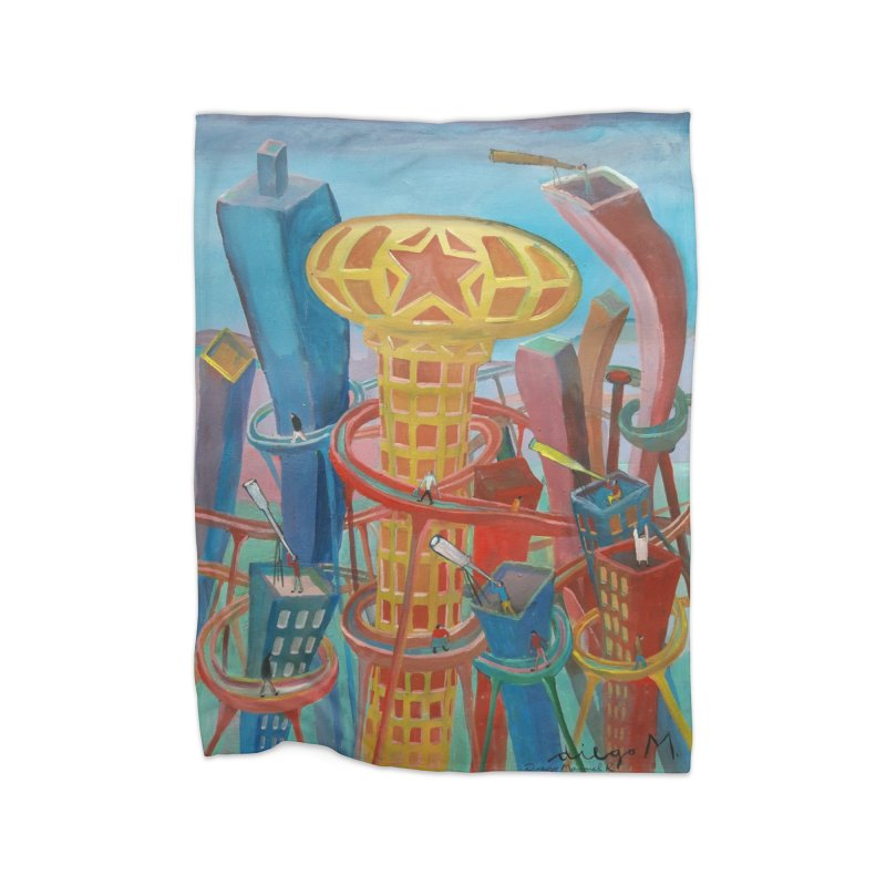 Ciudad 2 Home Blanket by diegomanuel's Artist Shop