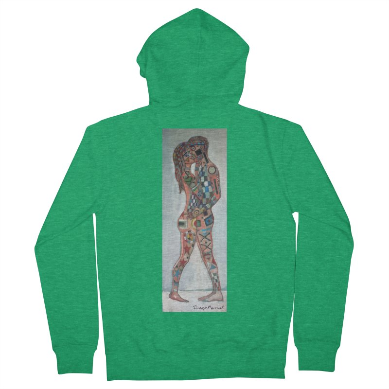 Amantes tatuados Men's French Terry Zip-Up Hoody by diegomanuel's Artist Shop