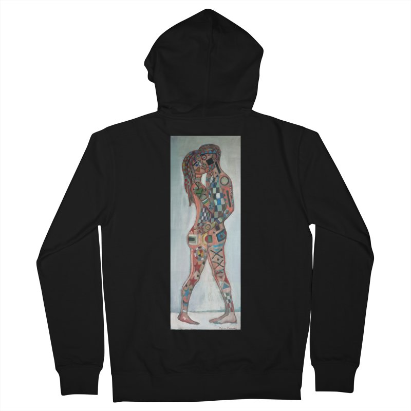 Amantes tatuados Men's Zip-Up Hoody by diegomanuel's Artist Shop