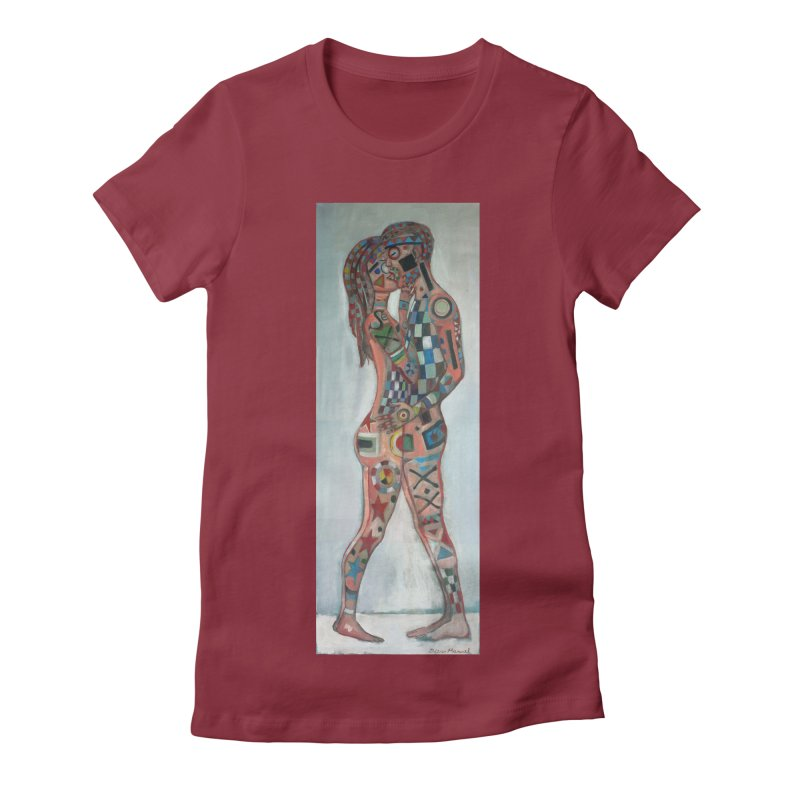 Amantes tatuados Women's Fitted T-Shirt by diegomanuel's Artist Shop