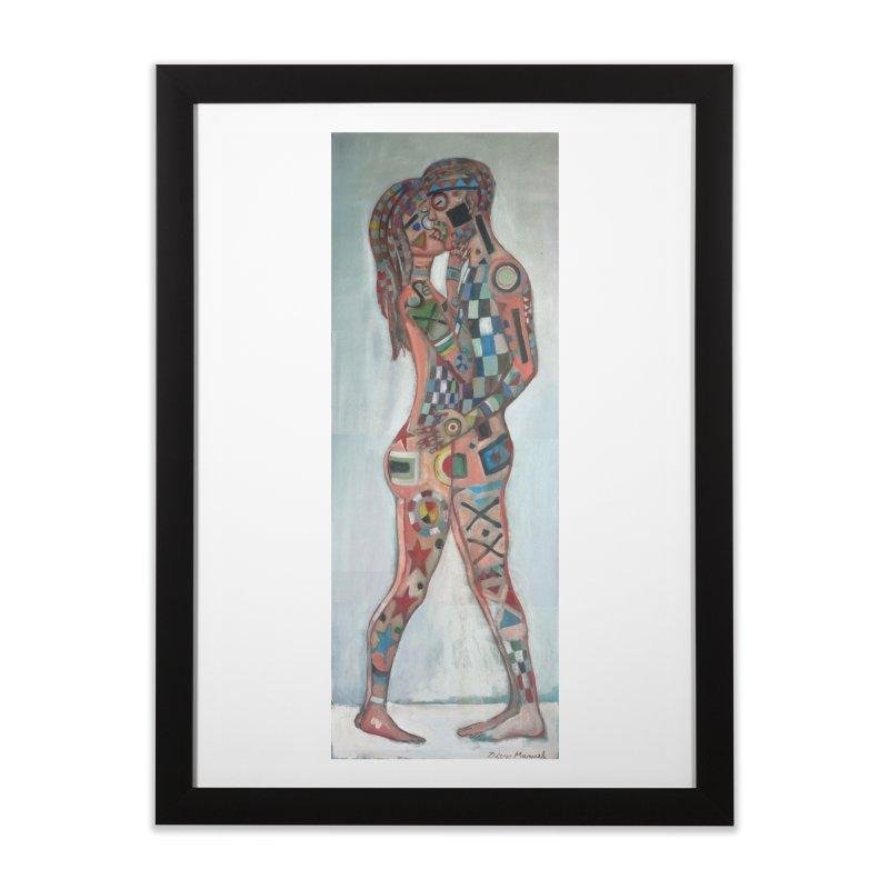 Amantes tatuados Home Framed Fine Art Print by diegomanuel's Artist Shop