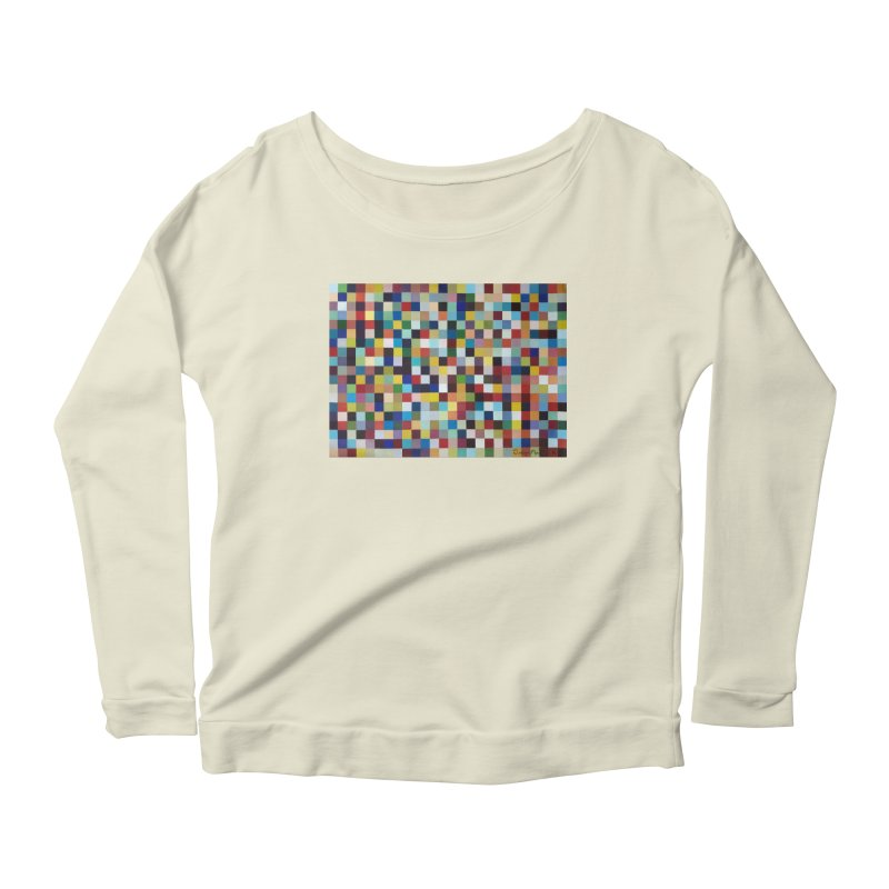 Composición cromática Women's Scoop Neck Longsleeve T-Shirt by diegomanuel's Artist Shop