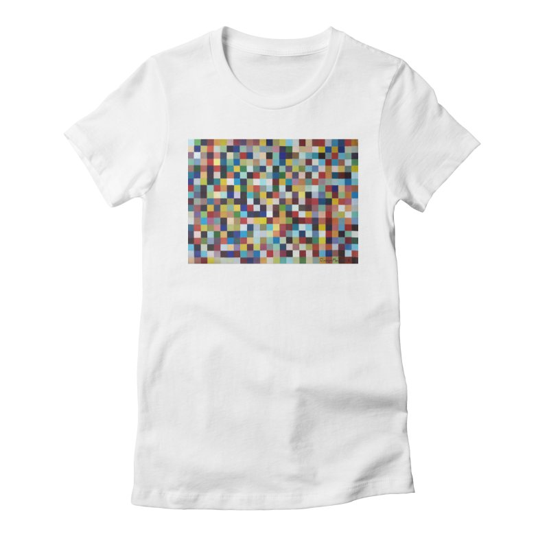 Composición cromática Women's Fitted T-Shirt by diegomanuel's Artist Shop