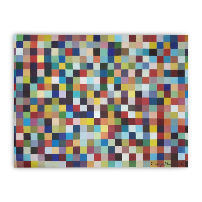 Composición cromática Home Stretched Canvas by diegomanuel's Artist Shop