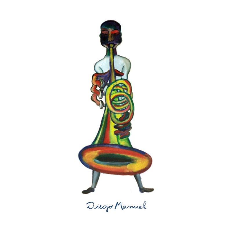 El trompetista Women's Longsleeve T-Shirt by diegomanuel's Artist Shop