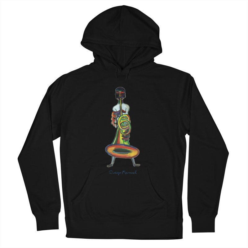 El trompetista Women's French Terry Pullover Hoody by diegomanuel's Artist Shop