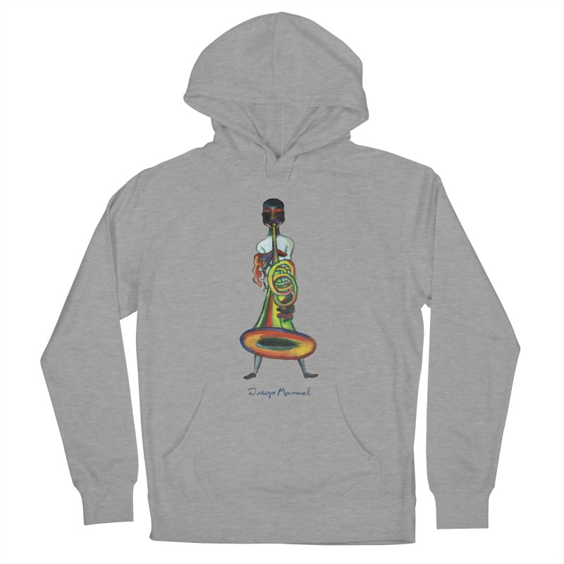 El trompetista Men's French Terry Pullover Hoody by diegomanuel's Artist Shop