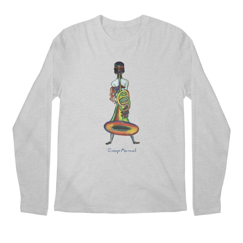 El trompetista Men's Regular Longsleeve T-Shirt by diegomanuel's Artist Shop