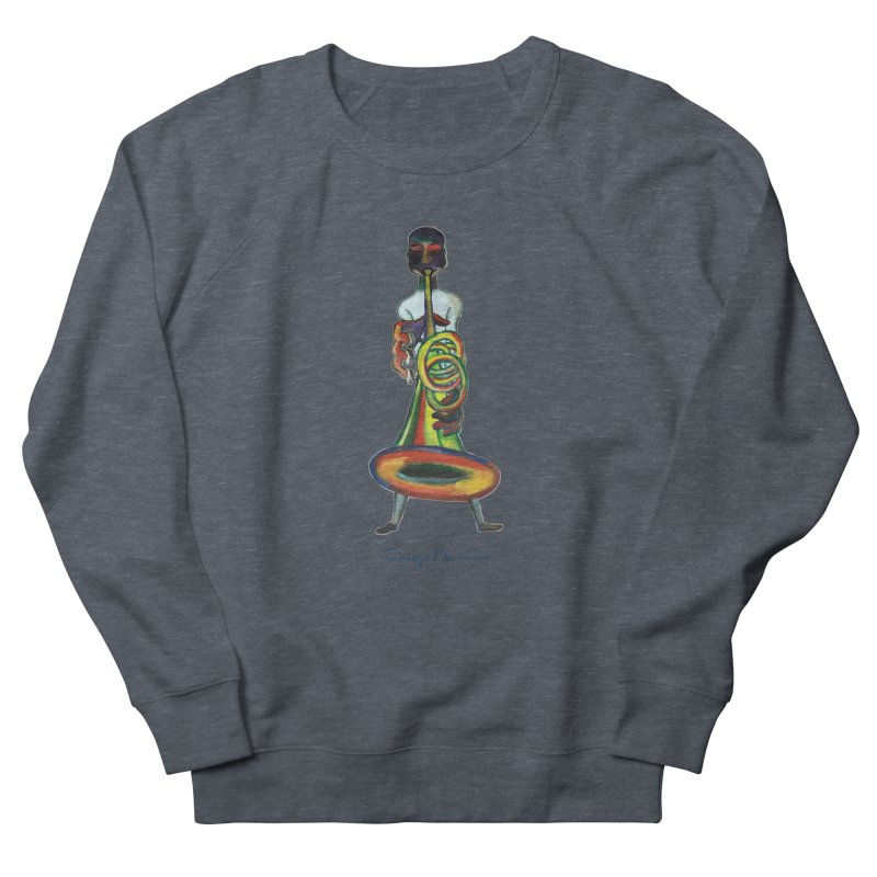 El trompetista Women's French Terry Sweatshirt by diegomanuel's Artist Shop