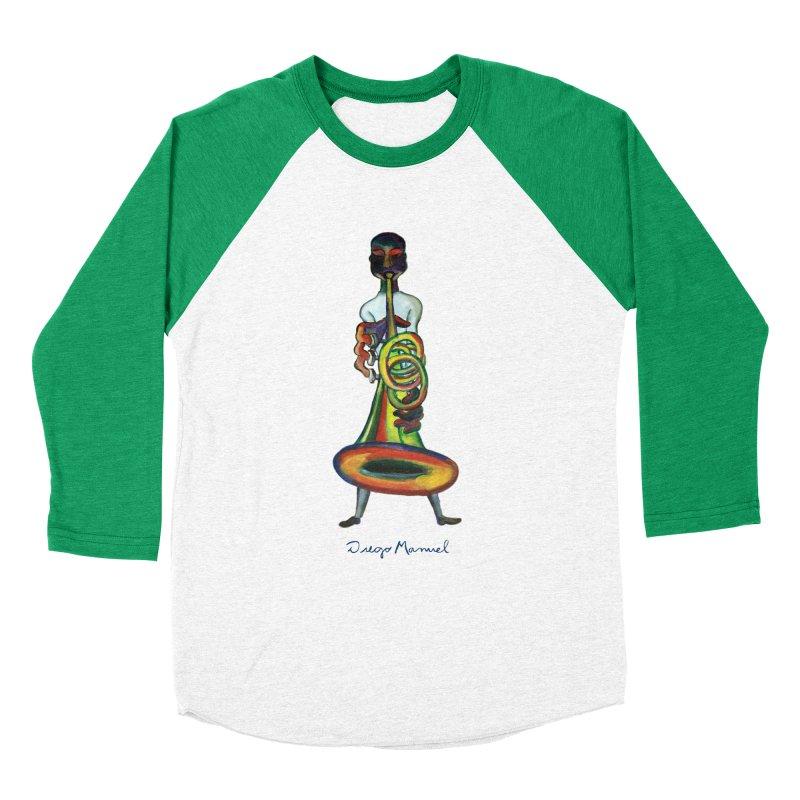 El trompetista Women's Baseball Triblend Longsleeve T-Shirt by diegomanuel's Artist Shop