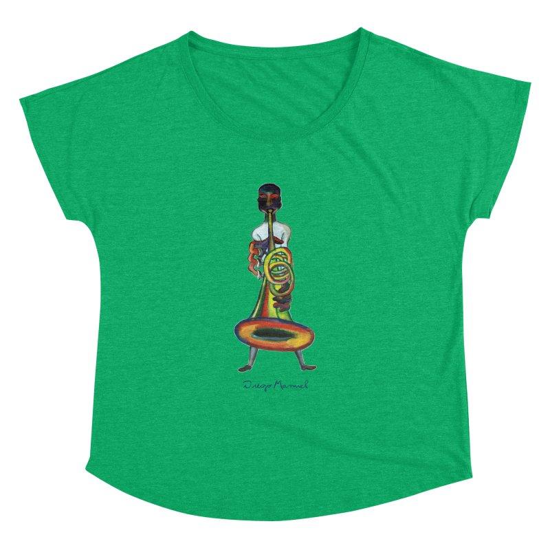 El trompetista Women's Dolman Scoop Neck by diegomanuel's Artist Shop