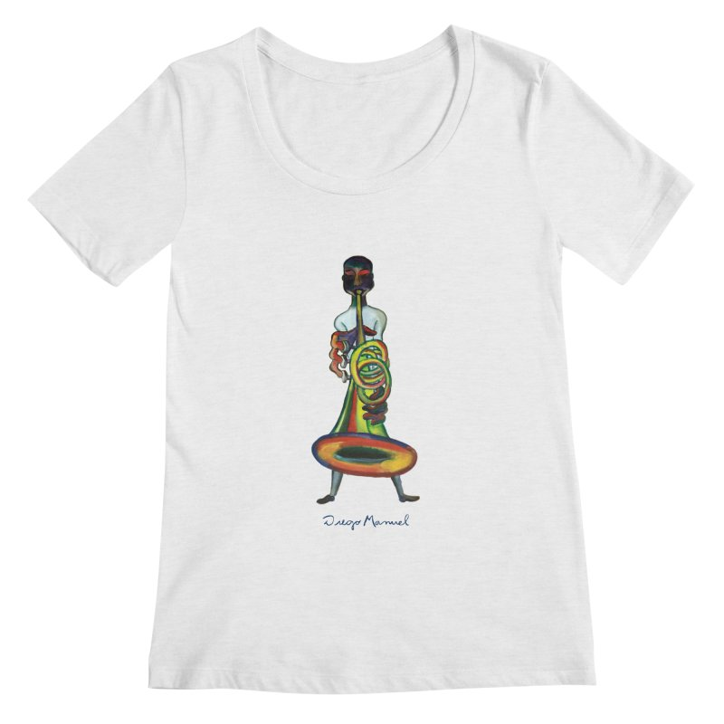 El trompetista Women's Regular Scoop Neck by diegomanuel's Artist Shop