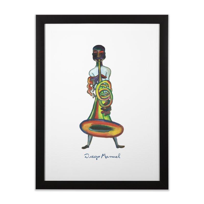 El trompetista Home Framed Fine Art Print by diegomanuel's Artist Shop