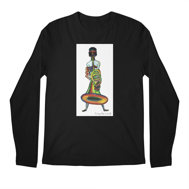 El trompetista Men's Longsleeve T-Shirt by diegomanuel's Artist Shop
