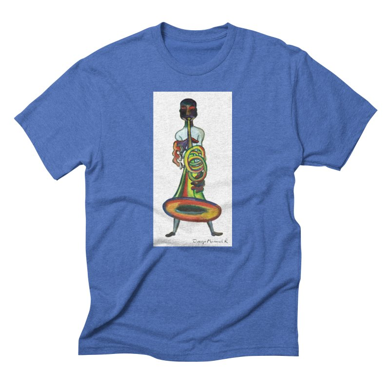 El trompetista Men's Triblend T-Shirt by diegomanuel's Artist Shop