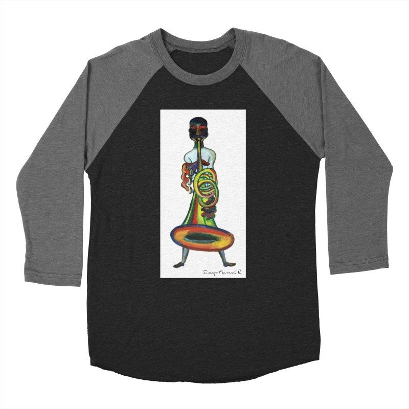 El trompetista Women's Baseball Triblend T-Shirt by diegomanuel's Artist Shop