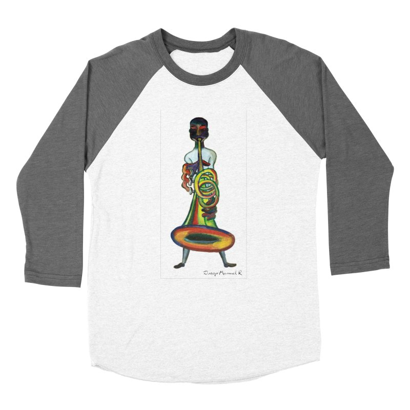 El trompetista Men's Baseball Triblend T-Shirt by diegomanuel's Artist Shop
