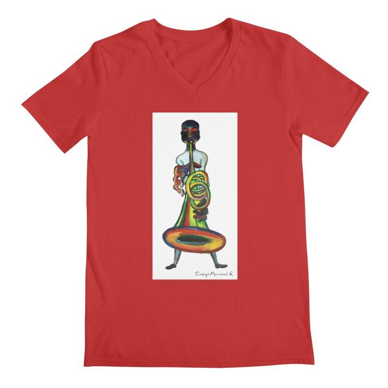 El trompetista Men's V-Neck by diegomanuel's Artist Shop