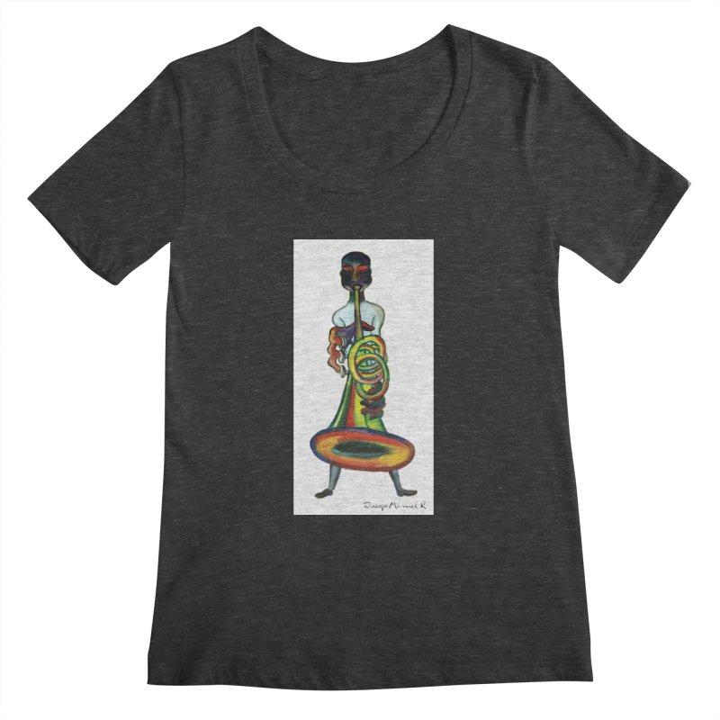 El trompetista Women's Scoopneck by diegomanuel's Artist Shop