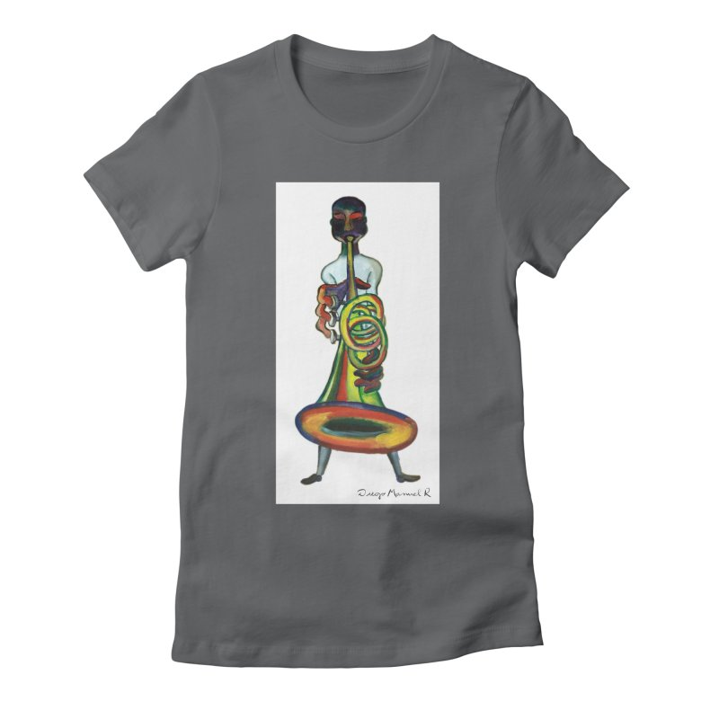 El trompetista Women's Fitted T-Shirt by diegomanuel's Artist Shop