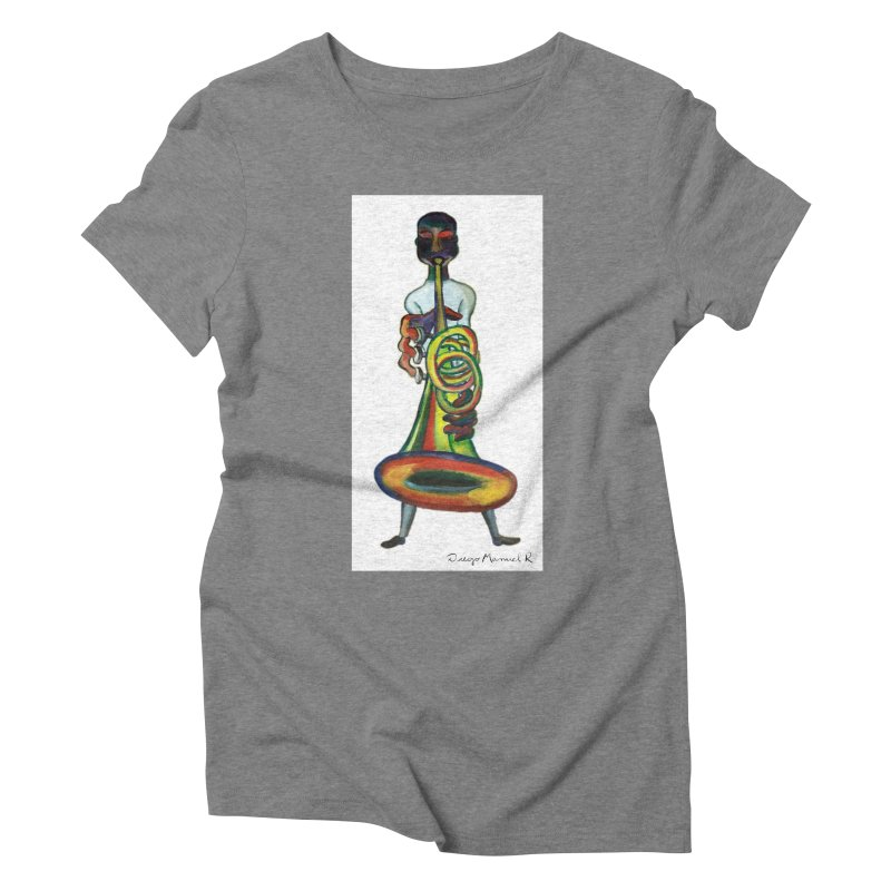 El trompetista Women's Triblend T-shirt by diegomanuel's Artist Shop
