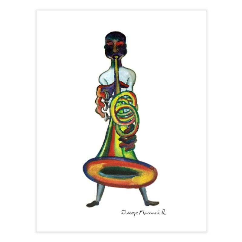 El trompetista Home Fine Art Print by diegomanuel's Artist Shop