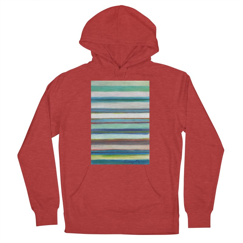 Strips Women's French Terry Pullover Hoody by diegomanuel's Artist Shop