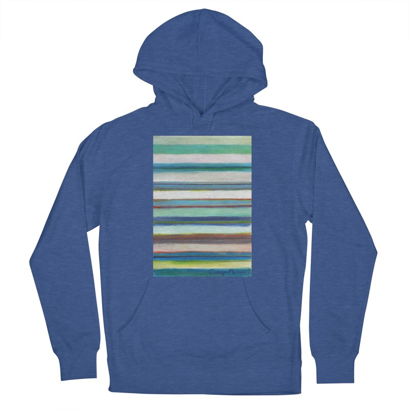 Strips Men's French Terry Pullover Hoody by diegomanuel's Artist Shop