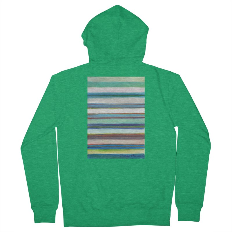 Strips Men's French Terry Zip-Up Hoody by diegomanuel's Artist Shop