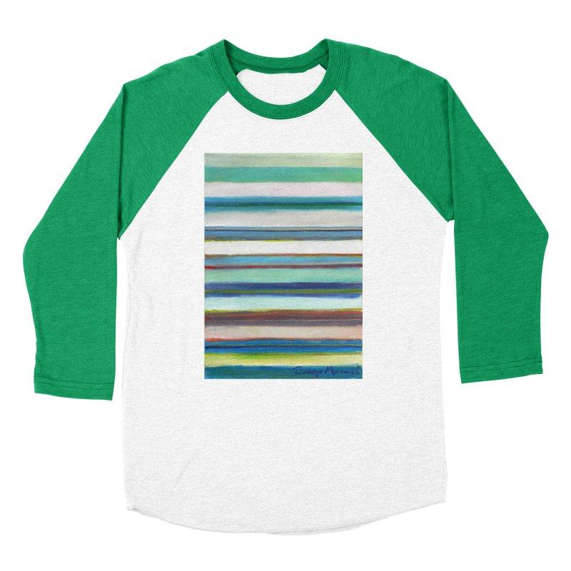Strips Women's Baseball Triblend Longsleeve T-Shirt by diegomanuel's Artist Shop