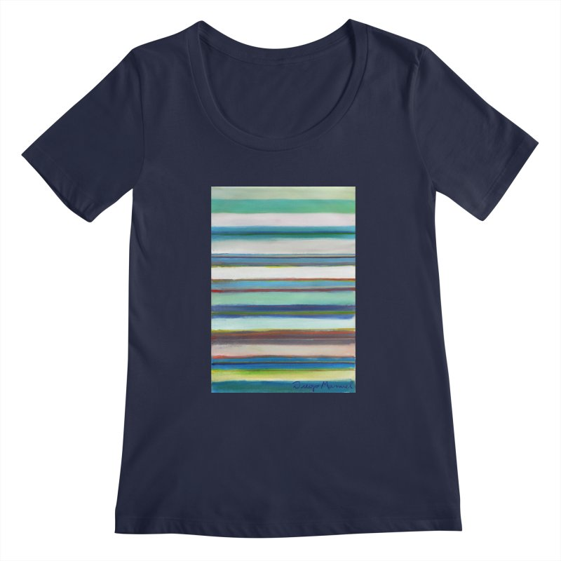 Strips Women's Regular Scoop Neck by diegomanuel's Artist Shop